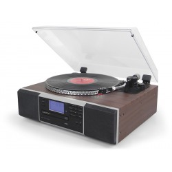 Tocadiscos con cd/mp3/usb/grabación y radio pll fm