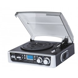 Tocadiscos con radio, usb, bluetooth