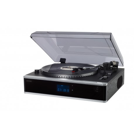 Tocadiscos profesional con  cd/mp3, radio pll, usb/sd negro
