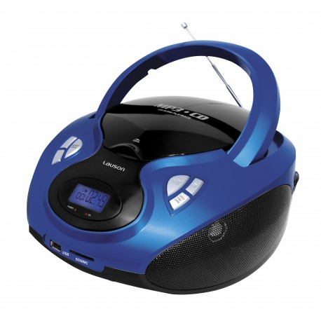 Combo cd/mp3 + radio am/fm azul