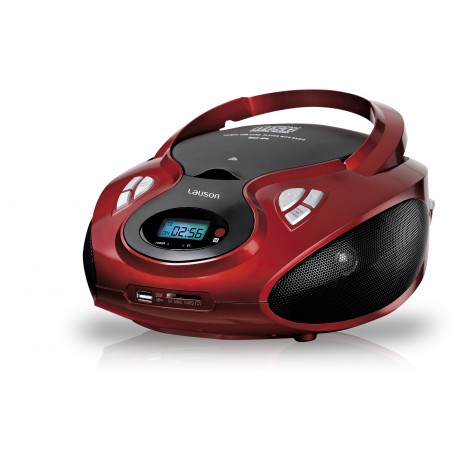 Combo cd/mp3 + radio am/fm bluetooth usb/sd rojo
