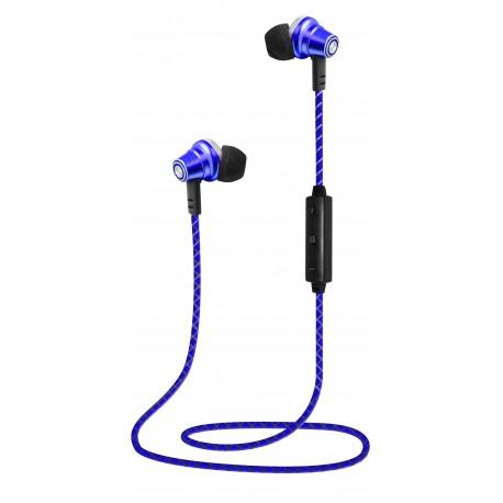 Auriculares Bluetooth con Iman Azul
