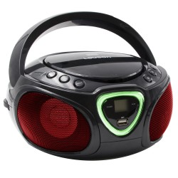 Combo Efectos Luces CD/MP3 + Radio AM/FM y Bluetooth Negro