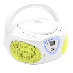 Combo Efectos Luces CD/MP3 + Radio AM/FM y Bluetooth Blanco