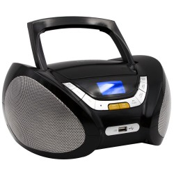 Modern Combo CD/MP3 + Radio FM Digital Negro