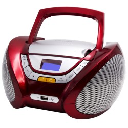 CP442 - Boombox CD/MP3 + Radio FM PLL Red