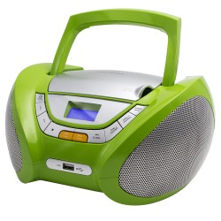 CP444 - Boombox CD/MP3 + Radio FM PLL Green