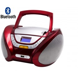 CP449 - Modern Boombox CD/MP3 + Radio FM PLL with Bluetooth Red