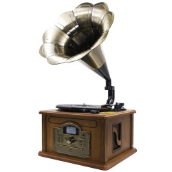 CL147 - Classic Gramophone with CD / MP3, FM Radio