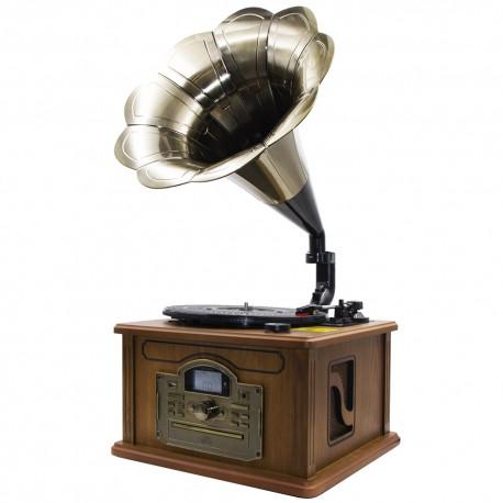 Tocadiscos con Bluetooth, Función Encoding, CD/MP3, Radio AM/FM