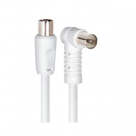Cable Antena RJ59 (M/H) 1,5MTRS Blanco