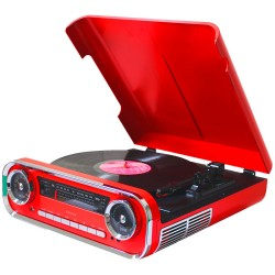 01TT17 - Modern Vintage Turntable with Encoding Red