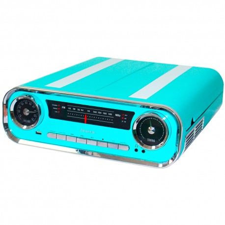 01TT18 - Tocadiscos Modern Vintage Con Encoding Azul
