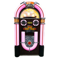 Jukebox con vinilo grabador