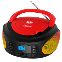 LLB996 - Boombox Radio/CD con luces Rojo