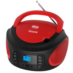 LLB996 - Boombox Radio/CD player with lights Red