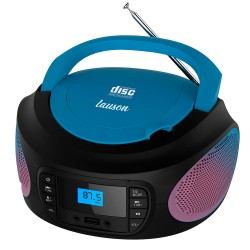 LLB997 - Boombox Radio/CD con luces Rojo