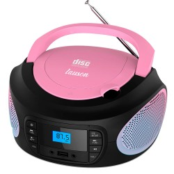 LLB998 - Boombox Radio/CD player with lights Red